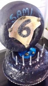valmis kakku, kuusivuotiaan juhliin.